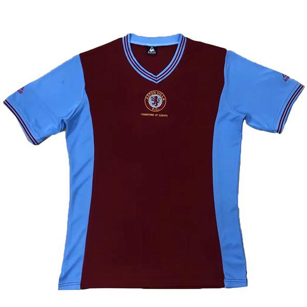 Aston Villa home retro jersey match men's first soccer sportswear football shirt 1981-1982