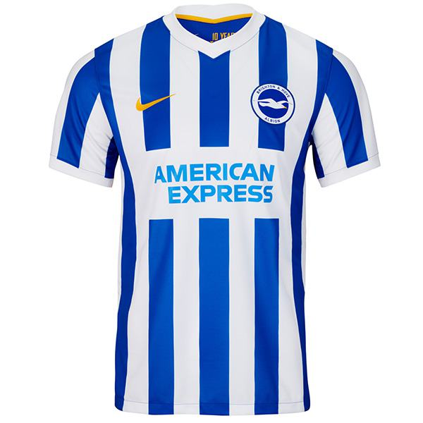 Brighton & Hove Albion home jersey vintage soccer kit match men's first sportswear football shirt 2021-2022
