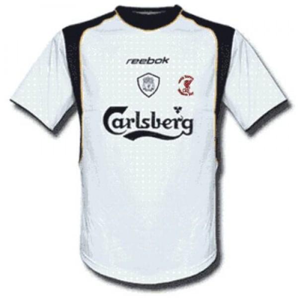 Liverpool away retro soccer jersey maillot match men's 2ed sportwear football shirt 2001-2001