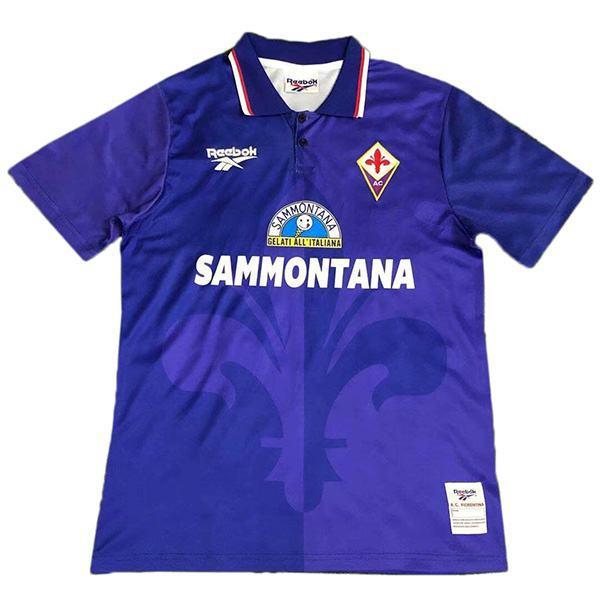 ACF Fiorentina home retro soccer jersey maillot match men's first sportswear football shirt 1995-1996