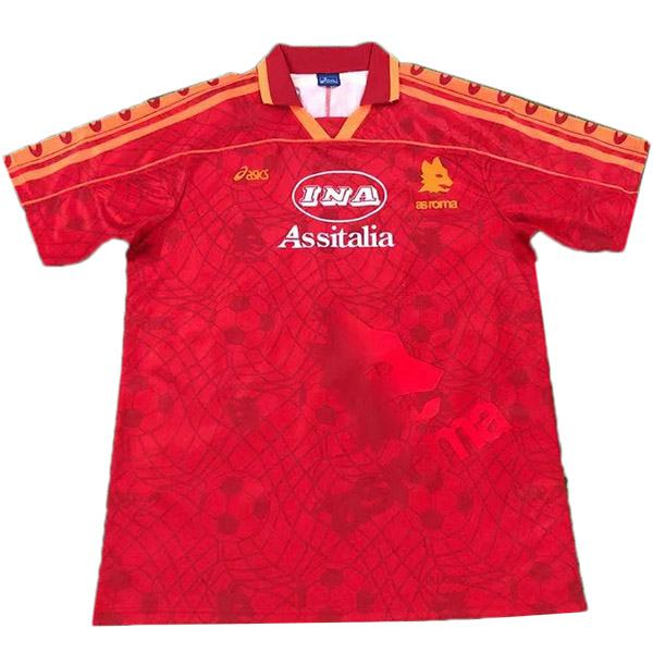 AS roma home retro soccer jersey maillot match men's 1st sportwear football shirt 1995-1996