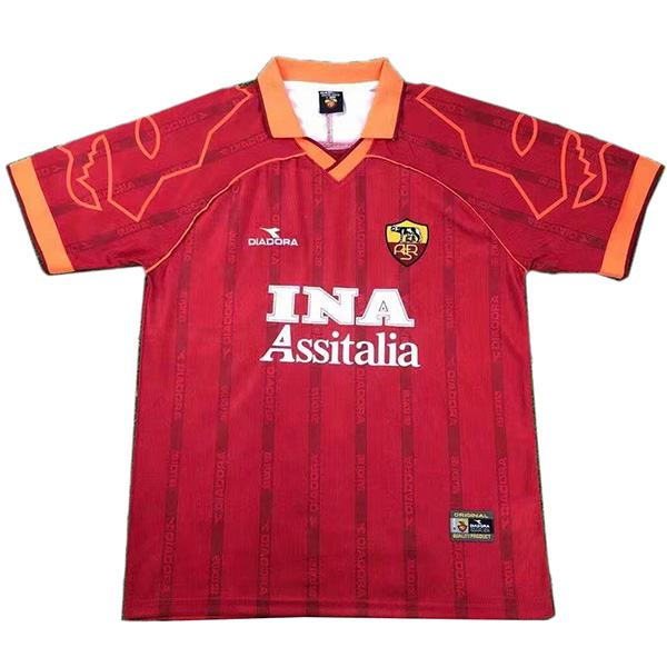 AS roma home retro soccer jersey maillot match men's first sportswear football shirt 1999-2000
