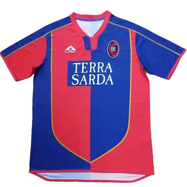 Cagliari Calcio home retro jersey vintage soccer match men's first sportswear football shirt 2003-2004