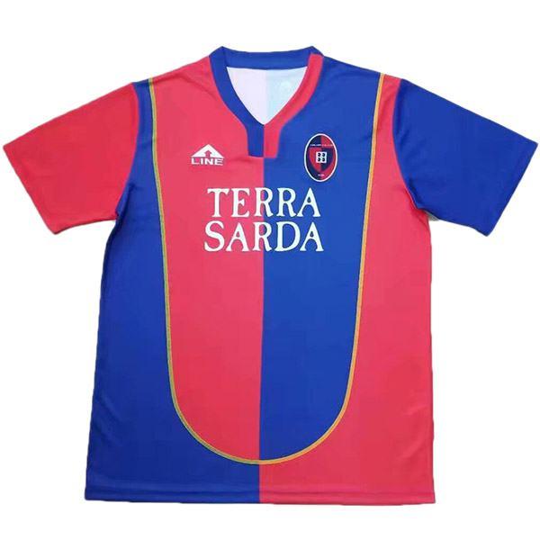 Cagliari Calcio home retro jersey vintage soccer match men's first sportswear football shirt 2004-2005