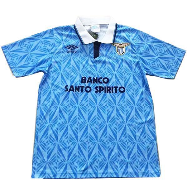 Lazio home retro vintage soccer jersey match men's first sportswear football shirt 1991